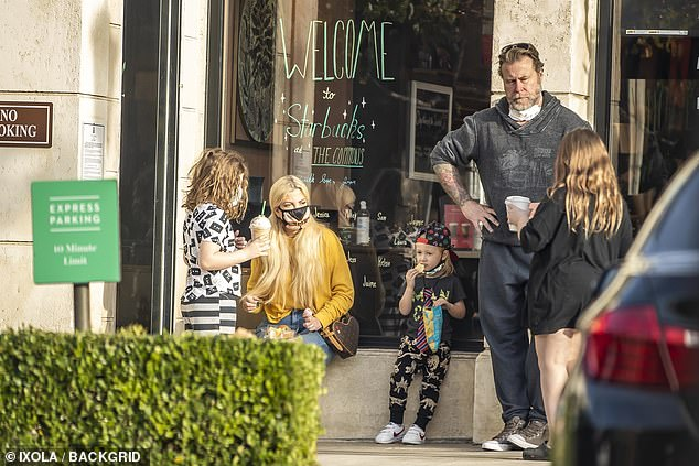 Family outing:While Tori Spelling and husband Dean McDermott spent most of their 2020 at home with their kids, due to COVID-19, the family made a rare public outing on Sunday