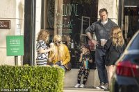 Tori Spelling and Dean McDermott take their kids out for a Starbucks run in Calabasas