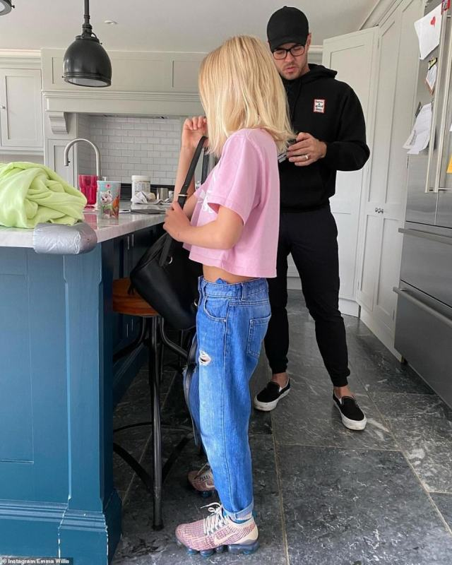 Pride and joy: Emma recently made headlines after sharing a picture of her son Ace wearing a pink top and sporting long blond hair