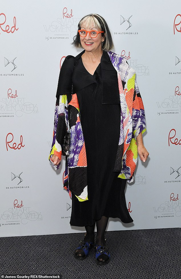 Philippa Perry, 63, has claimed 'it's such a waste of time when couples don't know how to argue properly.' Pictured, at Red Magazine's 20th birthday party in London on 18 September 2018