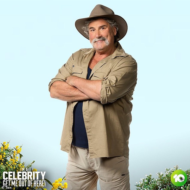 Hey, you! Former AFL star Robert 'Dipper' DiPierdomenico [pictured] joined the cast of I'm A Celebrity... Get Me Out Of Here! on Monday night