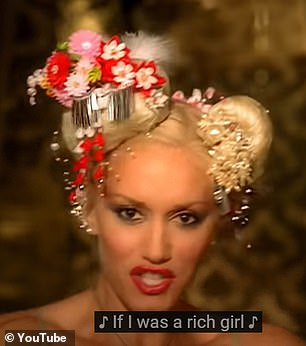 Throwback: Gwen Stefani has taken a trip down memory lane as she recreated some of her most famous looks for the video for her single Let Me Reintroduce Myself (pictured in Rich Girl video)