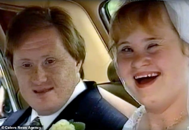 The happy couple on the day of their wedding. The pair had not been apart for more than 24 hours in the years they were married until Tommy was hospitalized