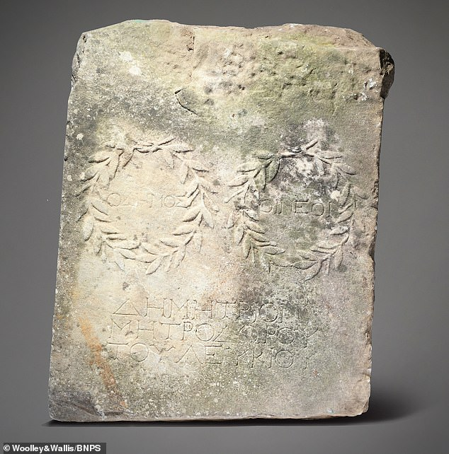 A large marble slab used by its owner as a step to mount her horse has been revealed to be rare Roman relic worth £15,000
