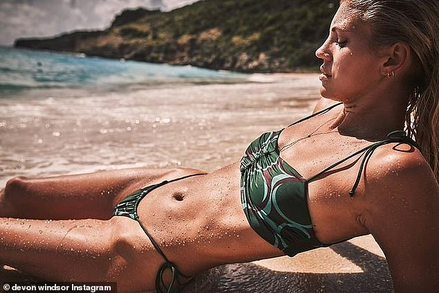 Sizzled: Last week the cover girl chose to model this bikini