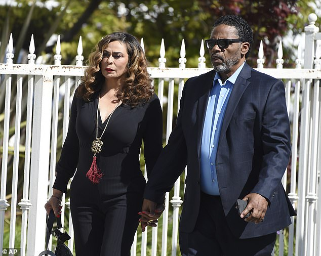 New love: Divorcing Matthew in 2009 after being married since 1980, she has now found love with actor Richard Lawson; pictured 2019