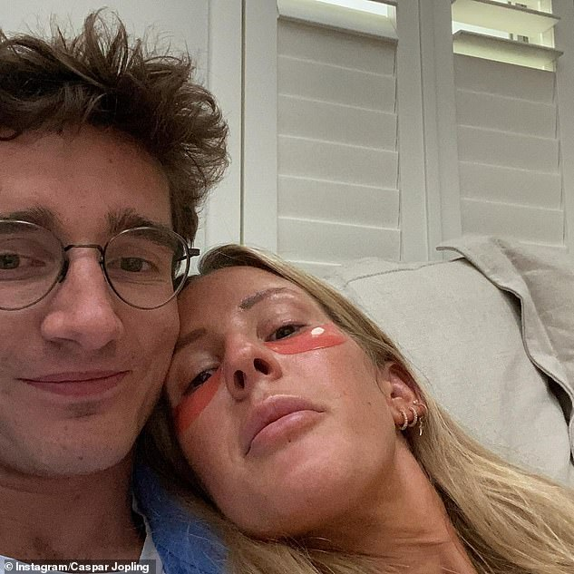 Adorable: Ellie's husband Caspar Jopling, 28, celebrated her 34th birthday with candid snaps from the last year and a sweet message shared to Instagram, on Thursday