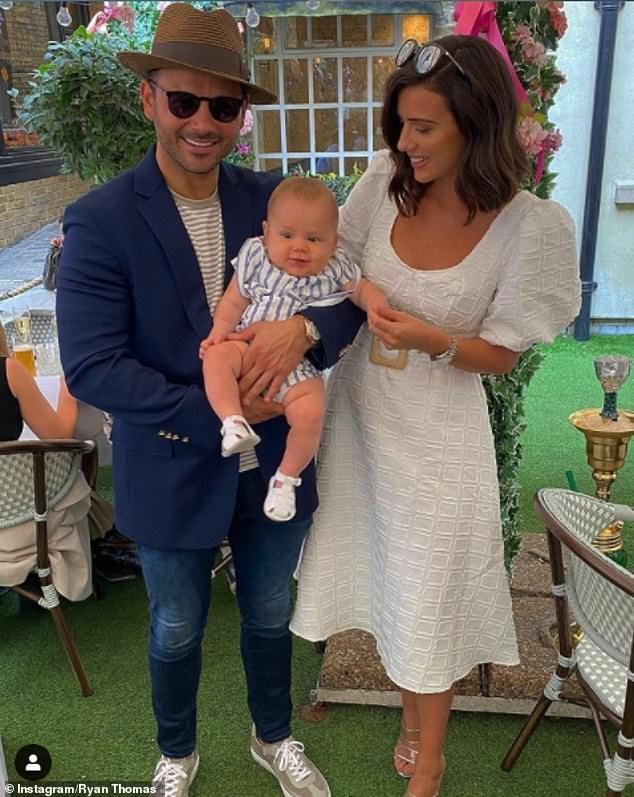 'Lockdown parents deserve a medal': Lucy has also admitted that she found being a new mum really hard, combining sleep deprivation with a global pandemic and a baby with allergies and tongue tie