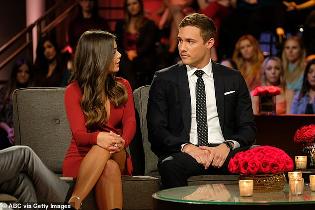 Exhibit A: Weber exposed his lack of commitment to the whole world in March 2020 by revealing that he had called off his engagement to fiancee Hannah Ann Sluss, 24, to whom he proposed the final episode of The Bachelor;  Hannah and Peter pictured in March 2020