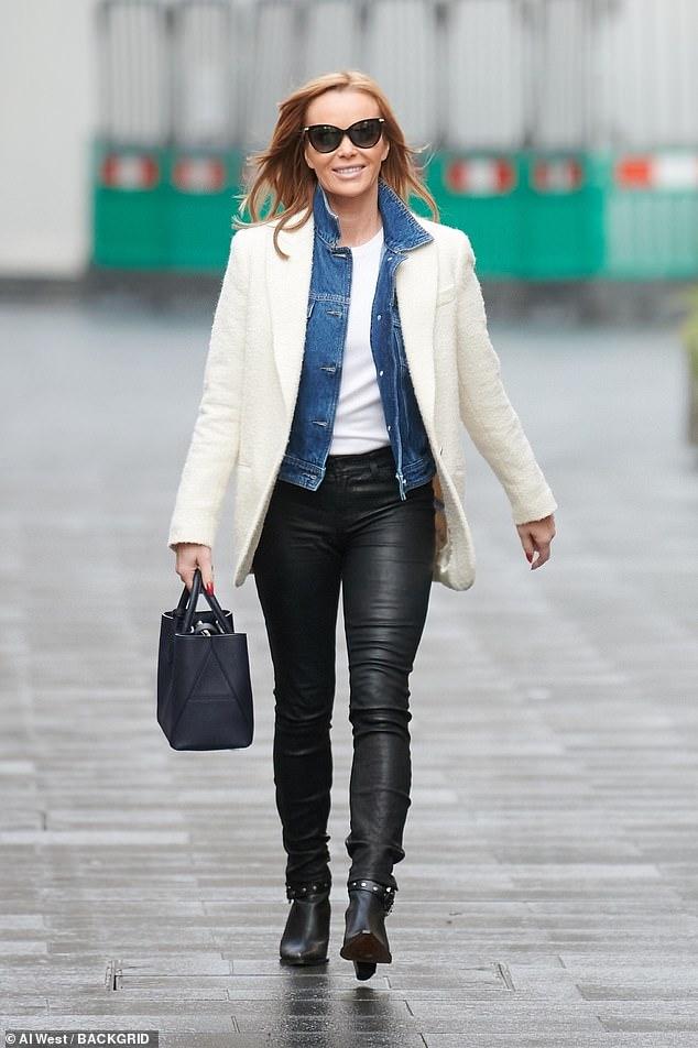 Amanda Holden looks effortlessly stylish as she departs Global Studios