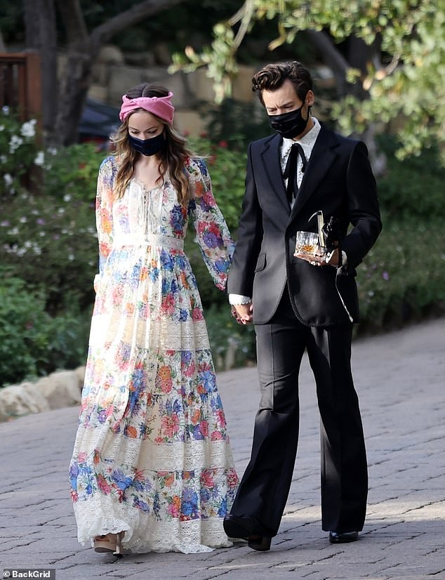 New couple: Harry and Olivia debuted as Hollywood's hottest new power at his agent's wedding in Montecito, Calif., This weekend