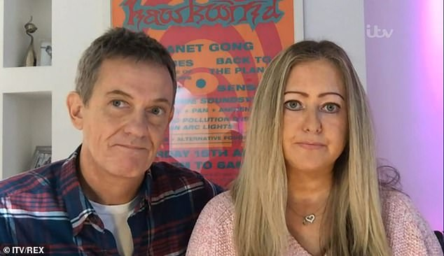 Recovery:Matthew Wright and his family are 'out the other side' after suffering from coronavirus symptoms (pictured with wife Amelia)