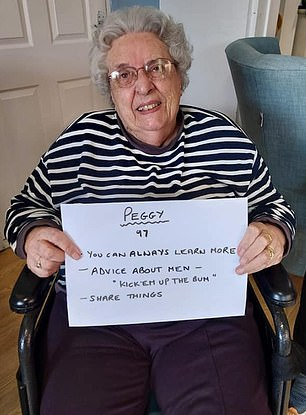Peggy, 97, said to 'kick men up the bum' if facing relationship woes