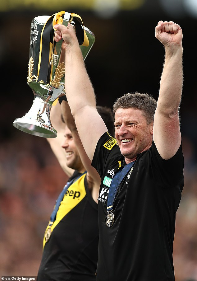 The winner takes it all: Tigers coach Damien Hardwick has given the club three premierships in four years