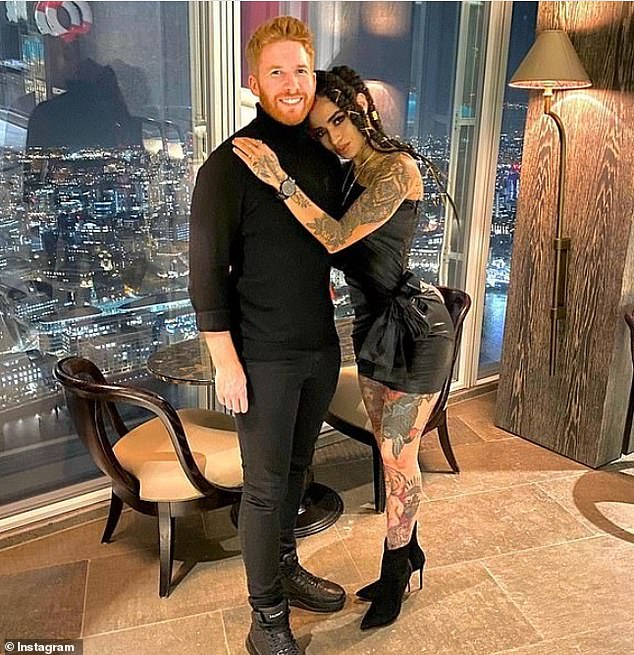 Former couple: It comes after Neil reportedly told his pals that being linked to his ex-girlfriend was the 'worst mistake. The pair split in December (pictured together)
