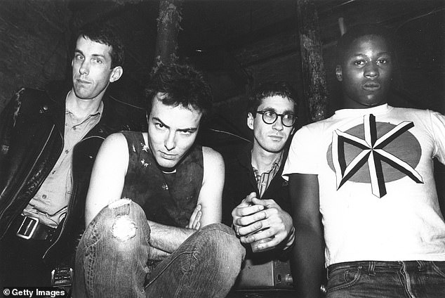 Oi to the world: Punk band the Dead Kennedys (1980 lineup above) confused their liberal fans when they took to Twitter to thank Republican Senator Mitt Romney for speaking out against President Trump during a chaotic Wednesday in Washington DC