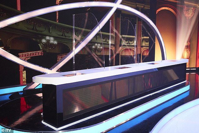 Studio first look: The new series of Dancing On Ice will see the judges protected by perspex screens and no studio audience amid the ongoing COVID-19 pandemic