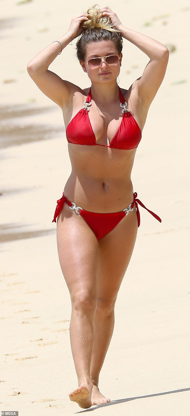 Miss Holland (pictured in Barbados in 2019), of North Ferriby, East Yorkshire, had been staying at the £350-a-night Hilton Hotel where she had to isolate until her court appearance
