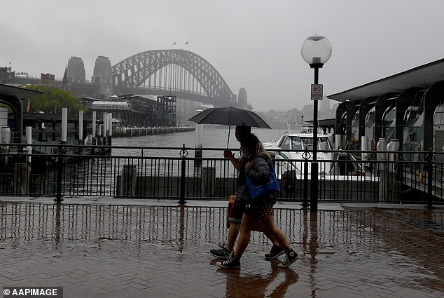 Sydneysiders are expected the feel the heat of summer this week compared to last week's wet weather (pictured)