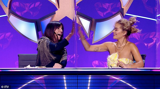 Dynamic duo:The third instalment of The Masked Singer UK on Saturday will see Davina McCall and Rita team up to become TV's latest detective duo