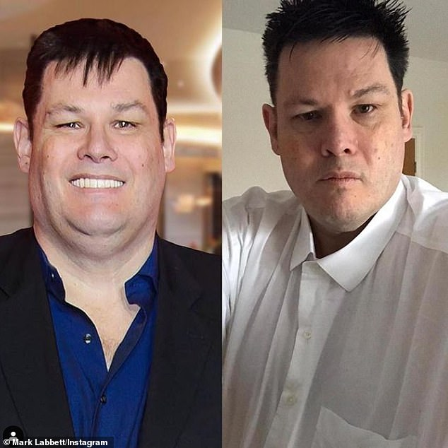'At this rate I'll be the skinniest chaser!' The Chase's Mark Labbett showed off his slimmed down figure in a before and after snap on Thursday, after losing almost five stone in lockdown