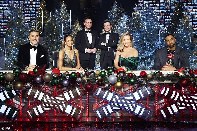 Back on screens: BGT also aired its first ever Christmas Special last month, with the judges all tested ahead of filming so they didn't have to maintain social distancing