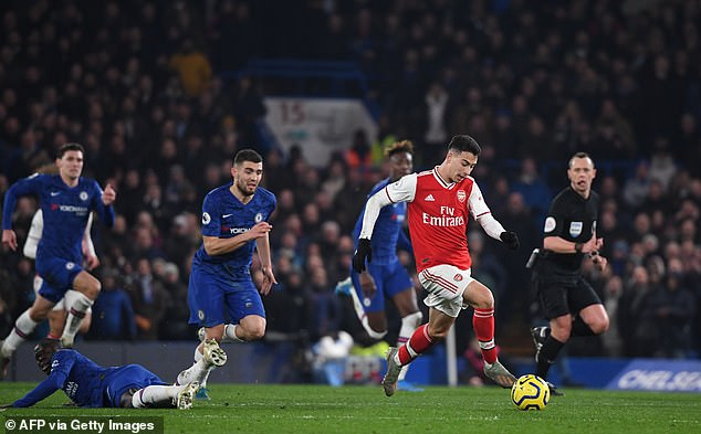 Martinelli made headlines with a superb solo run and finish against Chelsea last campaign