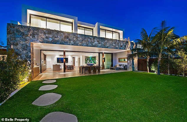 Famous former owner: Away from the field the couple reside in a stunning North Curl Curl abode (pictured), once owned by Jennifer Hawkins, which they bought for $5.235m in 2016