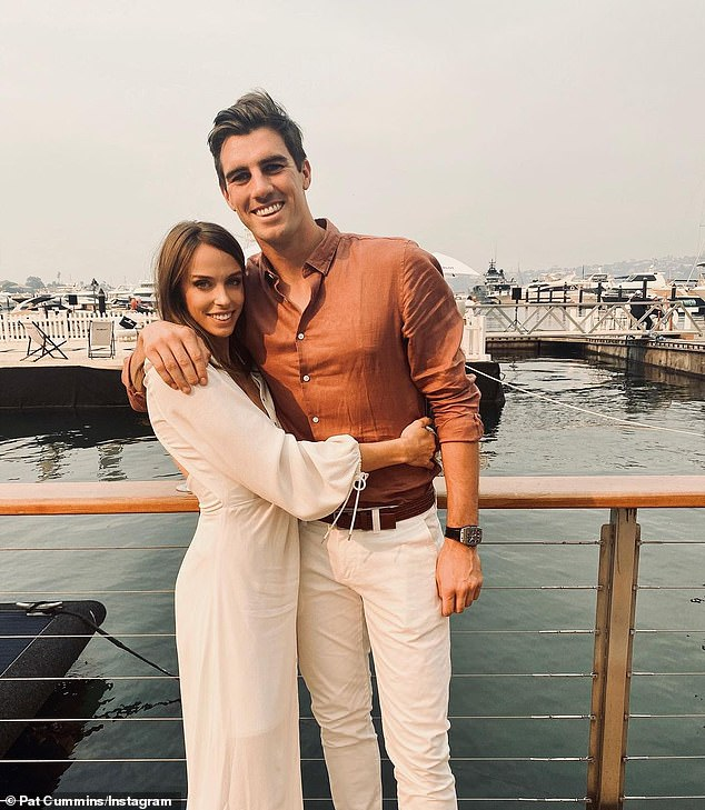 Making investments: Pat Cummins, the vice-captain of the Australia cricket team, is the owner of a unit in the highly-desirable beachside suburb of Clovelly. Pictured is Pat with his fiancéeBecky Boston