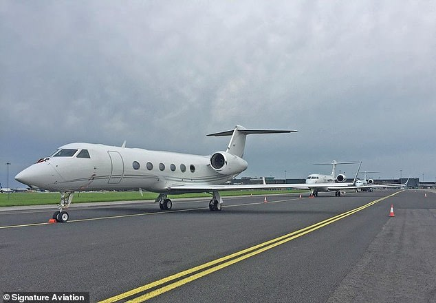 The Microsoft boss's company Cascade Investment entered the bidding war for Signature Aviation Friday, teaming up with Blackstone Group to make a $4.3 billion play for the British private jet servicing company. A private jet with Signature Aviation