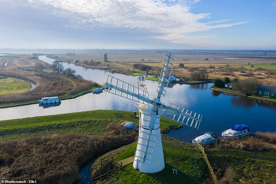 The Mail on Sunday's Tamara Hinson fancies cruising the Norfolk Broads and indulging in pub lunches in picturesque villages
