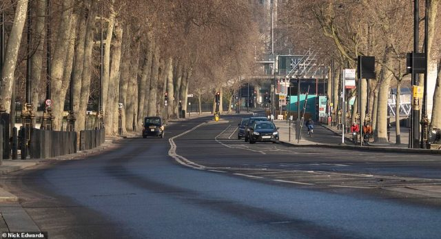 Victoria embankment was quiet this morning after Mayor Sadiq Khan declared a major incident in London during the third Covid lockdown