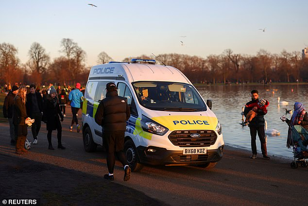 It comes after police have cracked down harder on rule breaking. Pictured: Kensington Palace Gardens in London