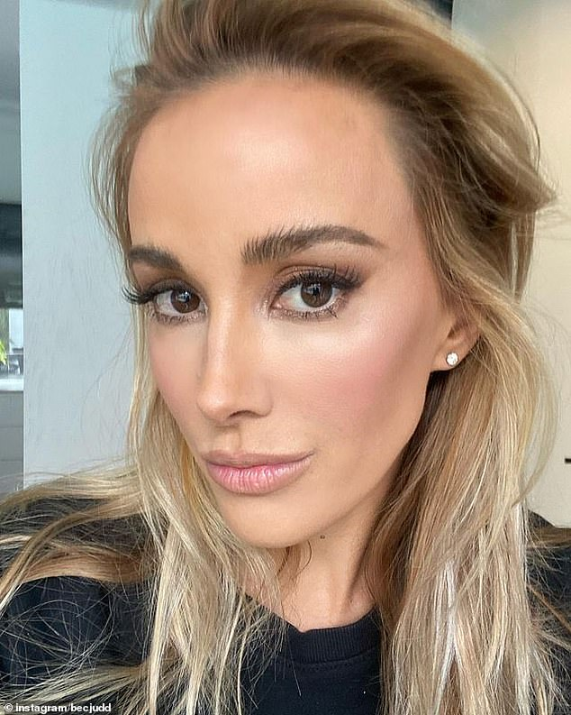 Gorgeous! Updates of their holiday follows Bec debuting her new - and very glamorous - look for 2021.The blonde beauty uploaded a picture of herself to Instagram on Thursday, after having her makeup done professionally - and the results were stunning
