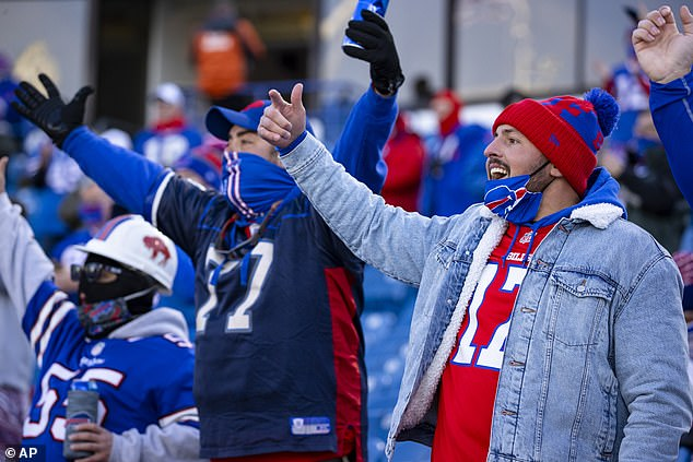 Almost everyone in the stands in Orchard Park was seen wearing their masks correctly
