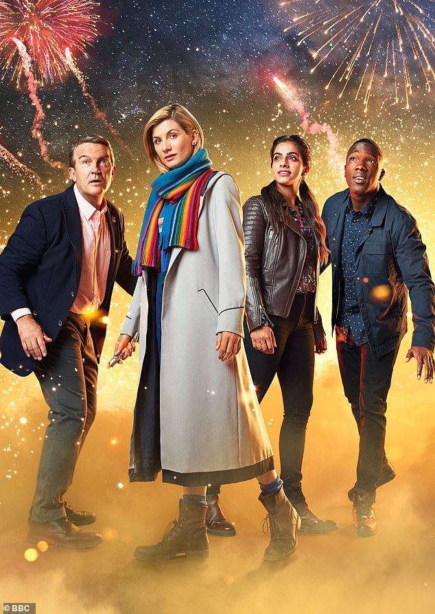 Bradley, pictured left, has also acted on the set of the long running BBC sci-fi show Dr Who