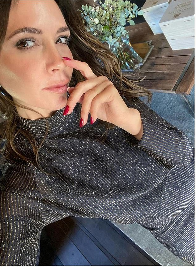 Two days later, Victoria, 46, posted a video of herself in a £1,250 black dress from her fashion label, posing in what appeared to be the Cotswolds bolthole