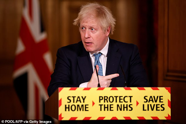 The Prime Minister promised MPs 'all such obstacles and all such pointless pettifoggery has been removed' on Wednesday. Pictured, Boris Johnson on January 7