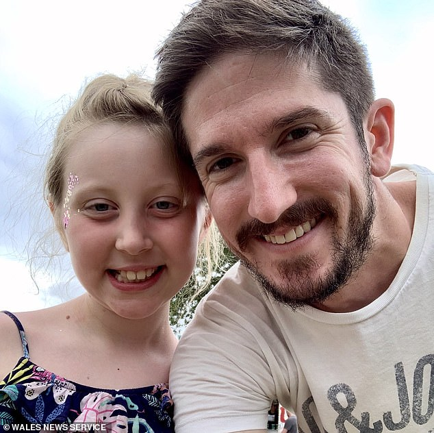 Eva's devastated father Paul Slapa, 35, (pictured together) has now revealed his daughter tragically passed away on January 8