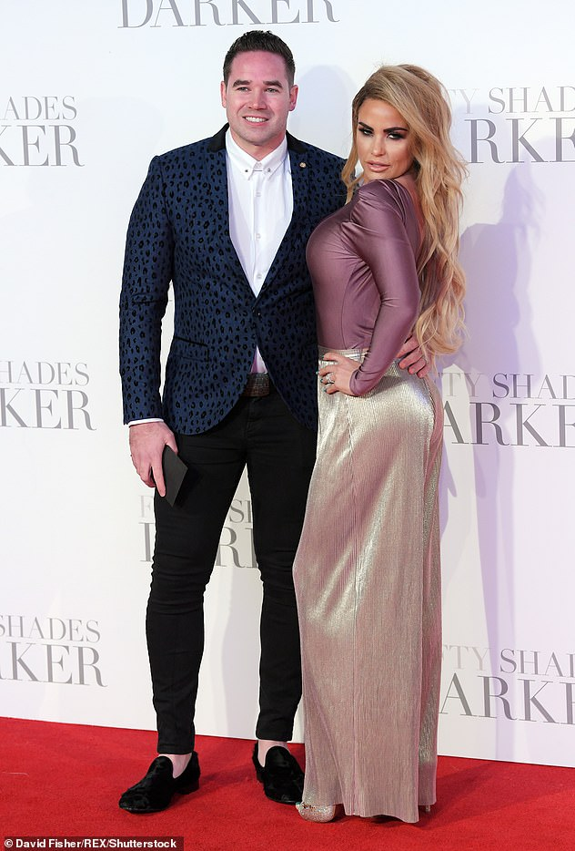 Divorce: Katie has been married three times - she was wed to Peter Andre from 2005 to 2009, cage fighter Alex Reid from 2010 to 2012 and former stripper Kieran Hayler from 2013 to 2018