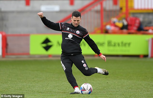 The TOWIE star completed a non-contract deal with Crawley back in December