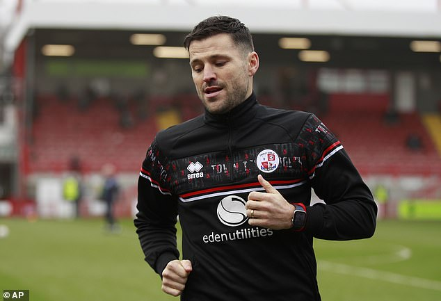 TV personality Mark Wright was named on the bench of Crawley's FA Cup match with Leeds