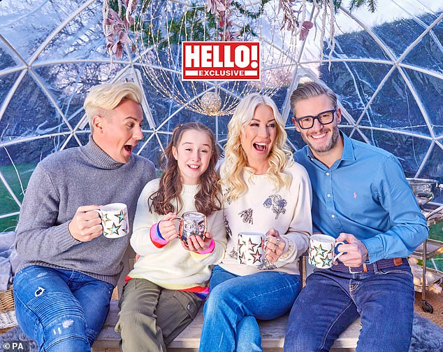 Bubble: Professional skater Matt Evers lives with Denise's daughter Betsy, 10, Denise and Eddie, during the current lockdown, adhead of Dancing On Ice