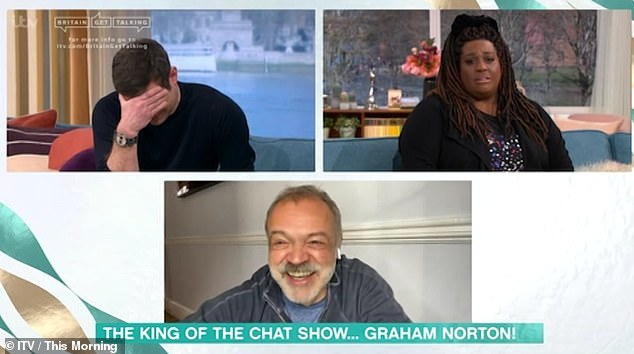 Sure to make sure Alison was not criticised for the blunder, Graham added: 'So I love Alison Hammond and if there was any awkwardness, it was my fault. I mean, I made it a bad thing'