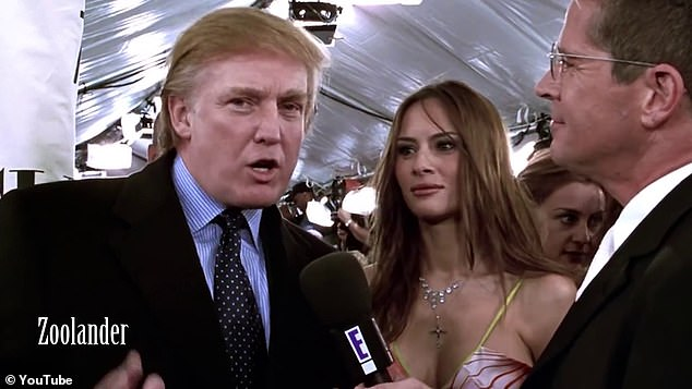 Documentary style: Trump and his wife Melania were featured in a brief scene in the 2001 Ben Stiller comedy Zoolander where he talked about the fictional male model