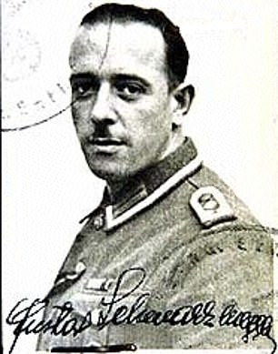 Nazi past: Gustav Schwarzenegger was a policeman in Austria who joined the Nazis and was wounded on the eastern front. His son described him drunkenly beating his children, like the neighboring fathers, because of the guilt 'of what they saw and did.' His mother Aurelia had two children - Meinhard, and Arnold - with Gustav; her first husband had died in action