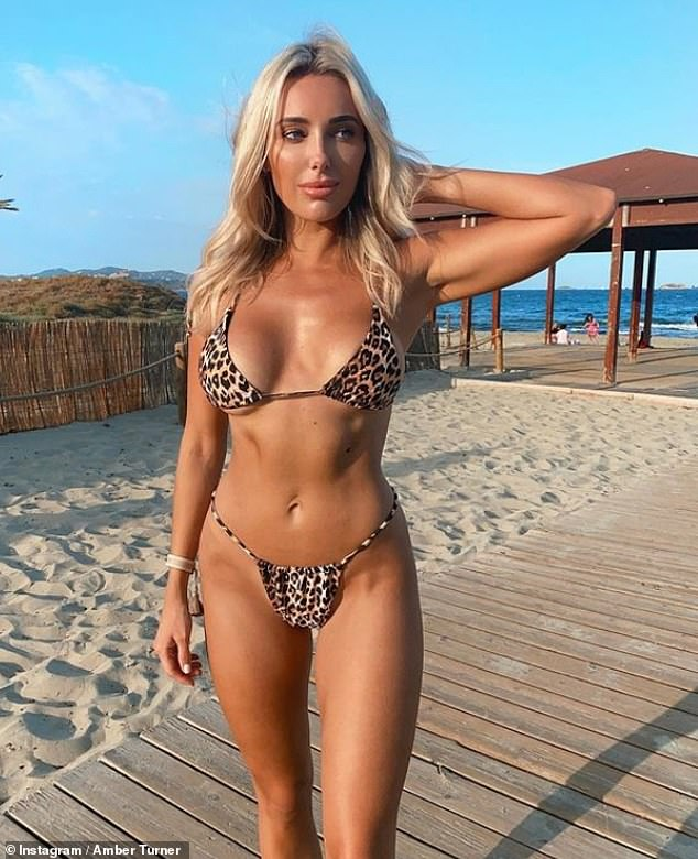 TOWIE's Amber Turner wears leopard print bikini in throwback snap from Ibiza trip