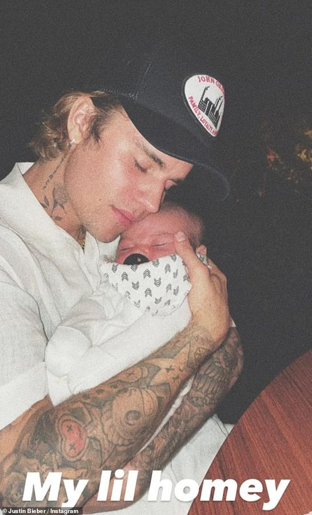 Uncle Justin: The Lonely singer lovingly referred to the baby as his nephew as he and Joe are longtime friends