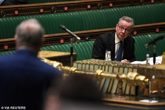Leading figures in British manufacturers and trade experts met with Michael Gove (pictured) on Thursday to warn that confusion over post-Brexit rules could cause export chaos
