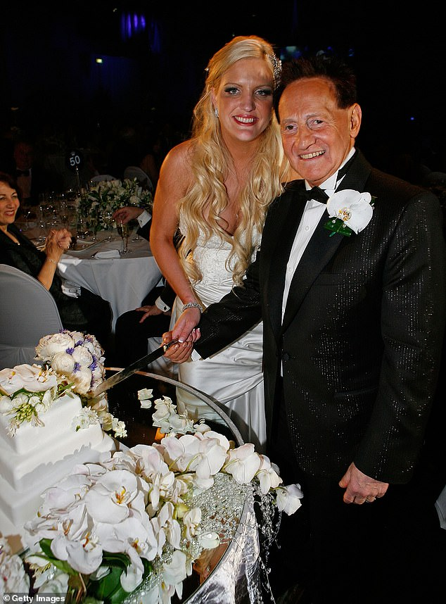 'I wouldn't trade it for anything': Brynne Edelsten, 37, says she has 'no regrets' about marrying millionaire ex-husband Geoffrey, 77. Pictured on their wedding day inNovember2009